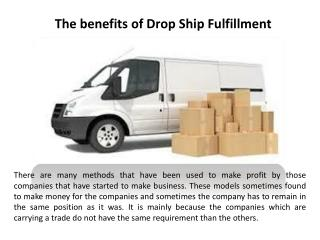 The benefits of drop ship fulfillment