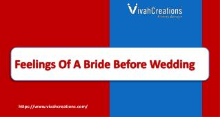 Feelings Of A Bride Before Wedding