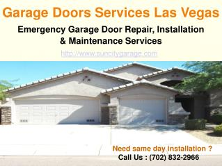 Garage Doors Services Las Vegas