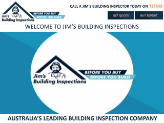 AUSTRALIA'S LEADING BUILDING INSPECTION COMPANY