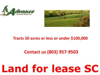 Land for lease SC