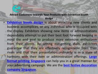 Attract customers towards your products with exhibition booth design