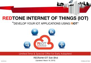 Develop Your IoT Applications Using RIOT