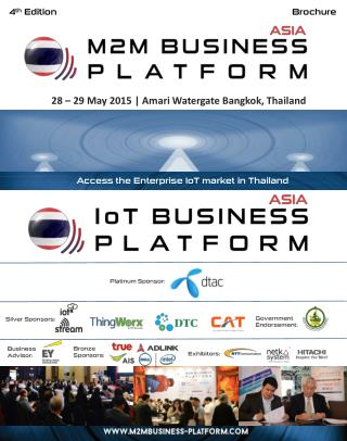 Asia M2M/IOT Business Platform, 28-29 May, Bangkok