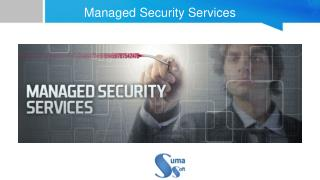 Managed Security Services - Suma Soft