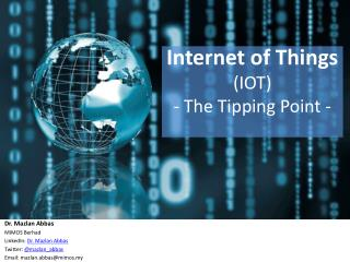 Internet of Things (IOT) - The Tipping Point
