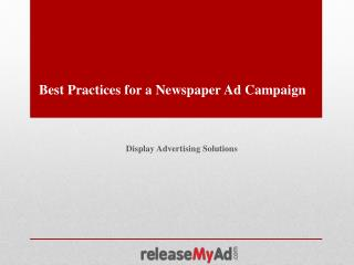 Best Practices for Newspaper Ad Campaign