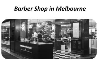 Barber Shop Melbourne