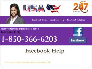 How to avail Facebook Help 1-850-366-6203 from the experts?