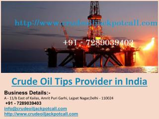 Crude Oil Tips Provider in India