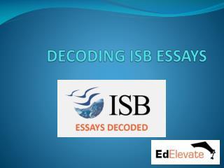 ISB MBA Essays