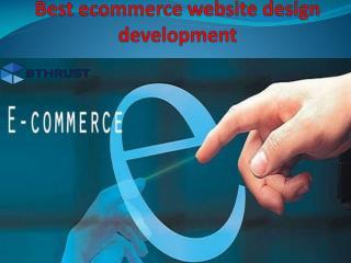 Best ecommerce website design development