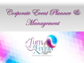 Corporate Event Planner & Management