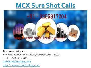 MCX sure shot calls