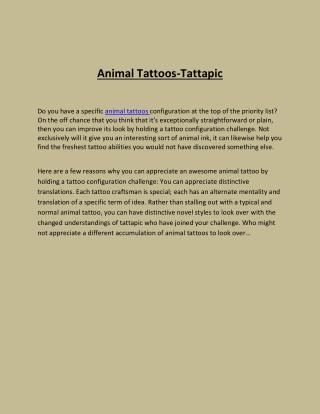 Animal Tattoos- Tattapic