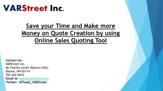 Save your Time and Make more Money on Quote Creation by using Online Sales Quoting Tool