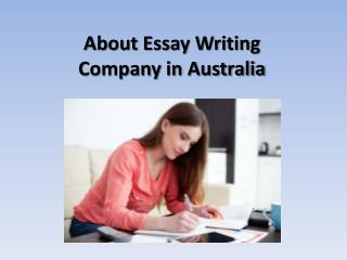About essay writing company in australia