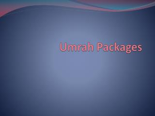Umrah Packages 2017