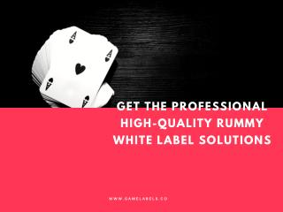 Get the Professional High-Quality Rummy White Label Solutions