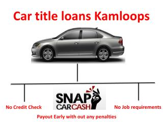 Car title loans Kamloops