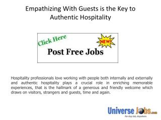 Empathizing With Guests is the Key to Authentic Hospitality