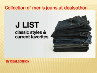 Collection of men's jeans at dealsothon