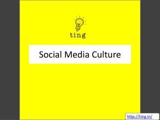 Social Media Culture