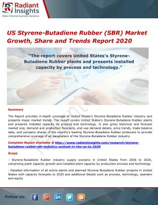 US Styrene-Butadiene Rubber (SBR) Market Share and Size, Research Report 2020