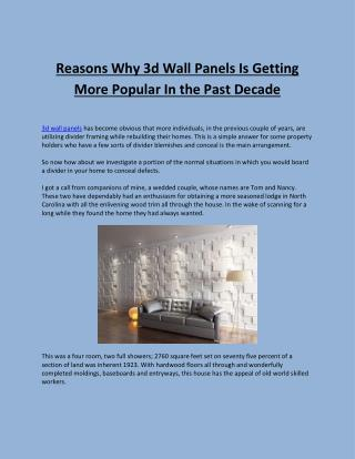 3d Wall Panels- All Weather Insulated Panels