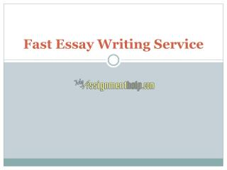 Online Fast Essays Writing Service