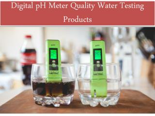 Digital pH Meter Quality Water Testing Products