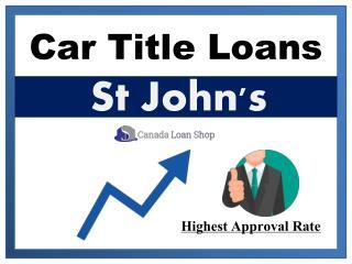Car Title Loans in St John's