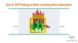 Use of 3D Printing to Make Learning More Interactive