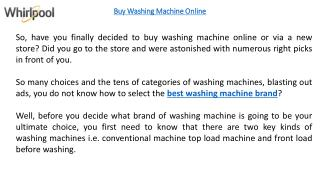Get To Know The Differences Between Front Load And Top Load Washing Machine