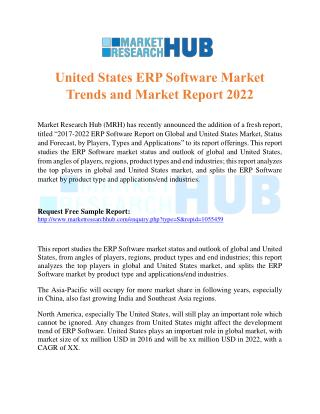United States ERP Software Market Trends and Market Report 2022