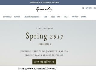 Buy Women Dresses, Jewelry, Bags at ravenandlily.com