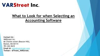 What to Look for when Selecting an Accounting Software