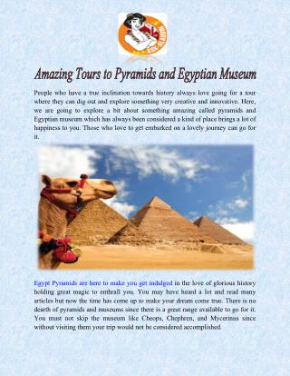 Amazing Tours to Pyramids and Egyptian Museum