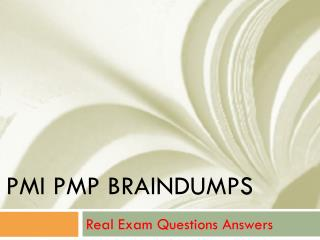 PMP Braindumps