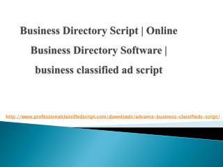 Business Directory Script | Online Business Directory Software | business classified ad script