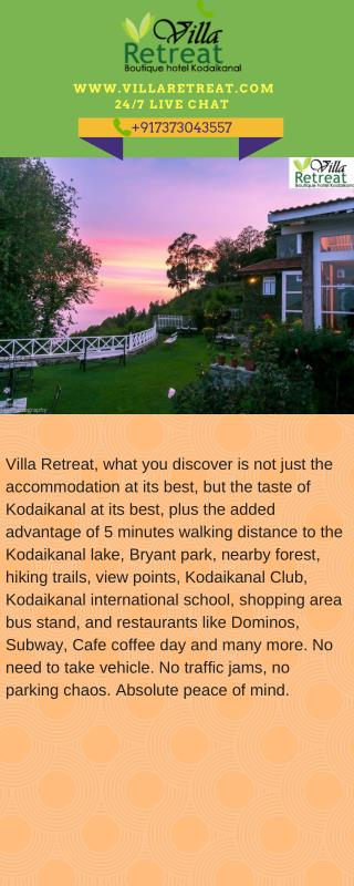 Villa Retreat - Best Place Stay Kodaikanal