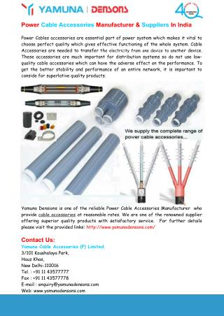 Power Cable Accessories Manufacturer & Suppliers In India