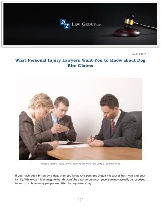 What Personal Injury Lawyers Want You to Know about Dog Bite Claims