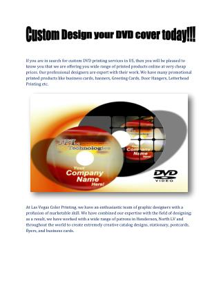Custom Design Your DVD Cover