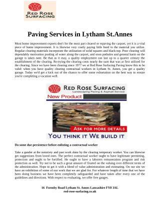Paving Services Lytham St Annes