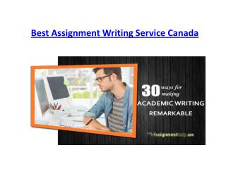 Best Assignment Writing Service Canada