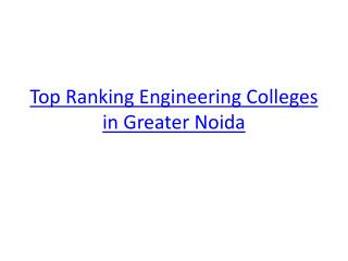 Top 10 engineering colleges in Delhi NCR