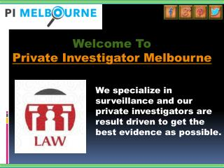 Private Investigator Melbourne