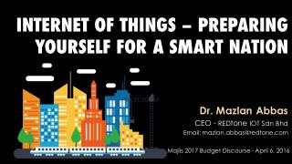 Internet of Things - Preparing Yourself for a Smart Nation