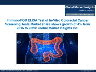 Global In-Vitro Colorectal Cancer Screening Tests Market to grow at over 5% CAGR from 2016 to 2023